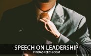 speech on leadership