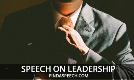 speech on leadership