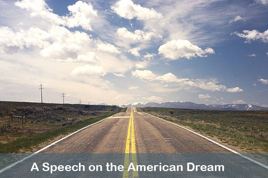 A speech on the American Dream