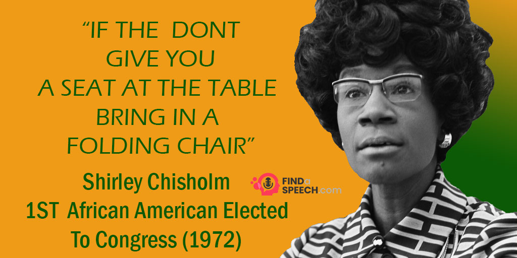 Shirley Chisholm became the first African-American woman elected to Congress.