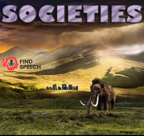 Speech on Societies